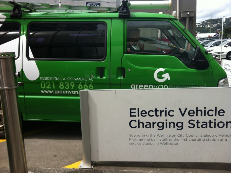 EV van and charge station